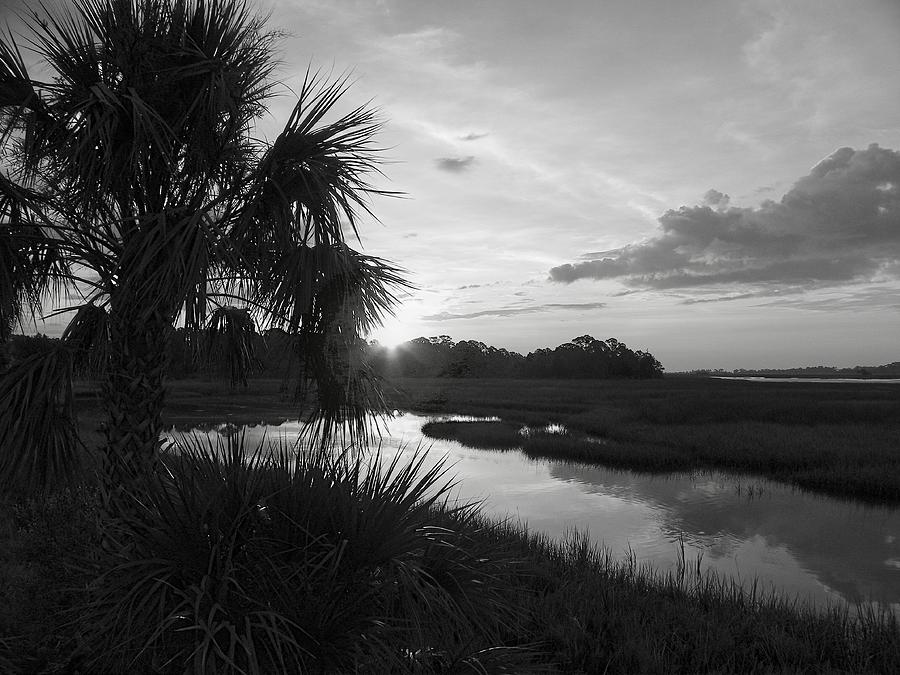Hot June Sunrise I        Bw Photograph  - Hot June Sunrise I        Bw Fine Art Print