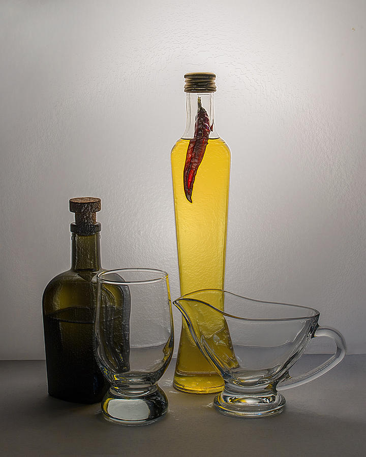 3d Modern Hot Pepper Still Life
