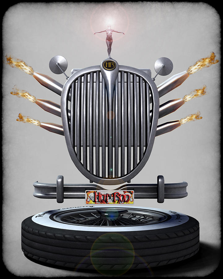 Hot Rod Crest Digital Art  - Hot Rod Crest Fine Art Print