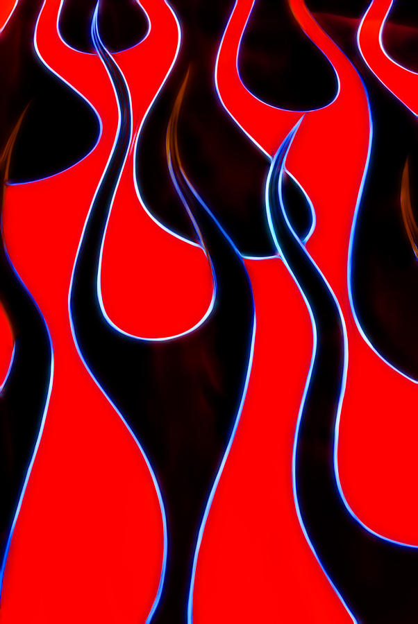 Hotrod Flames Photograph - Hot Rods Flames by Phil motography Clark