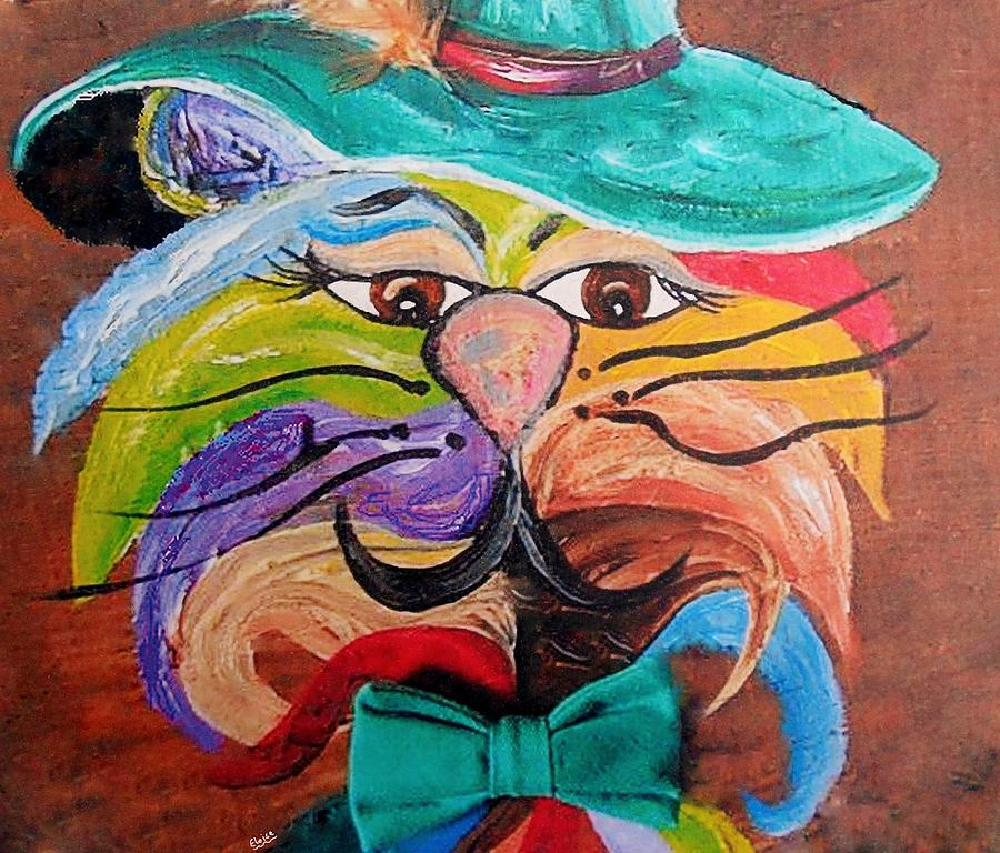 Hot Stuff - One Cool Cat   Painting  - Hot Stuff - One Cool Cat   Fine Art Print