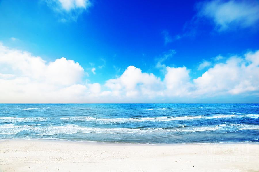 Hot Summer Beach Photograph  - Hot Summer Beach Fine Art Print
