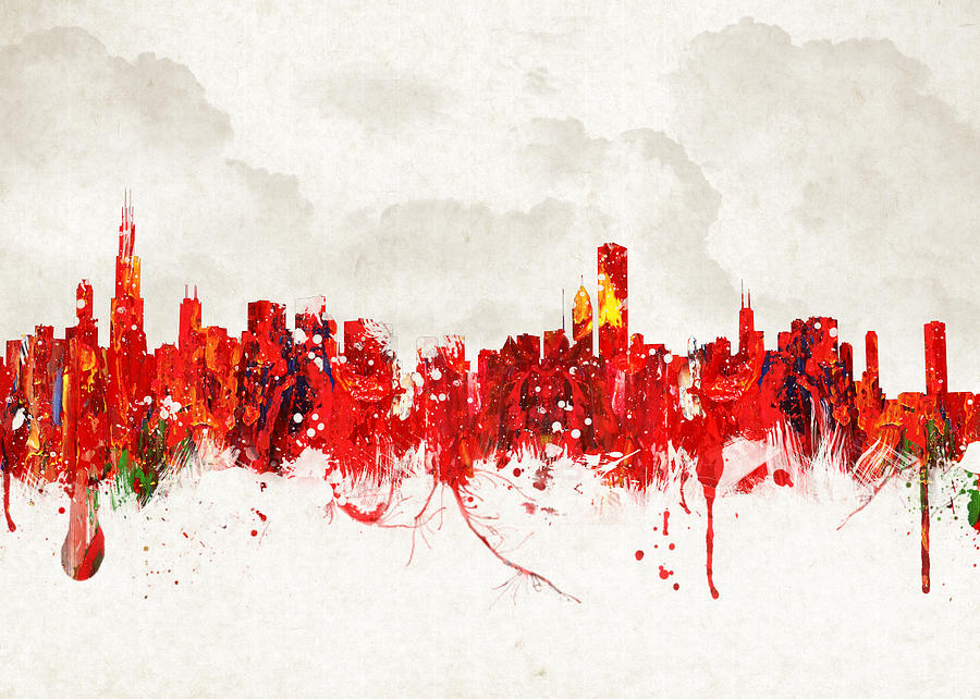 Architecture Digital Art - Hot Summer Day In Chicago by Aged Pixel