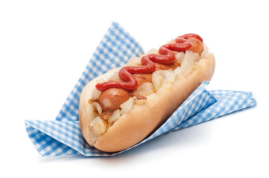 Hotdog In Napkin Photograph