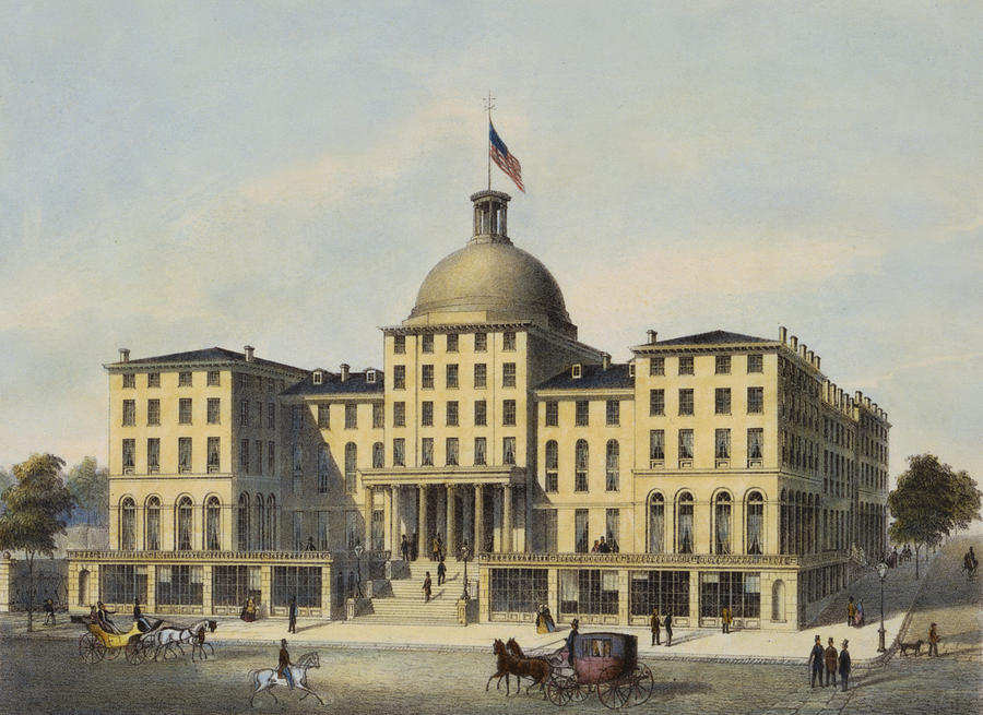 Hotel Burnet Circa 1850 Drawing