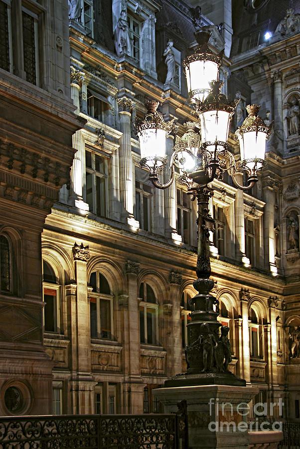 Hotel De Ville In Paris By Elena Elisseeva Royalty Free