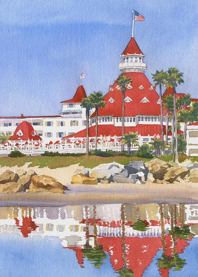 Hotel Del Coronado Reflected Painting