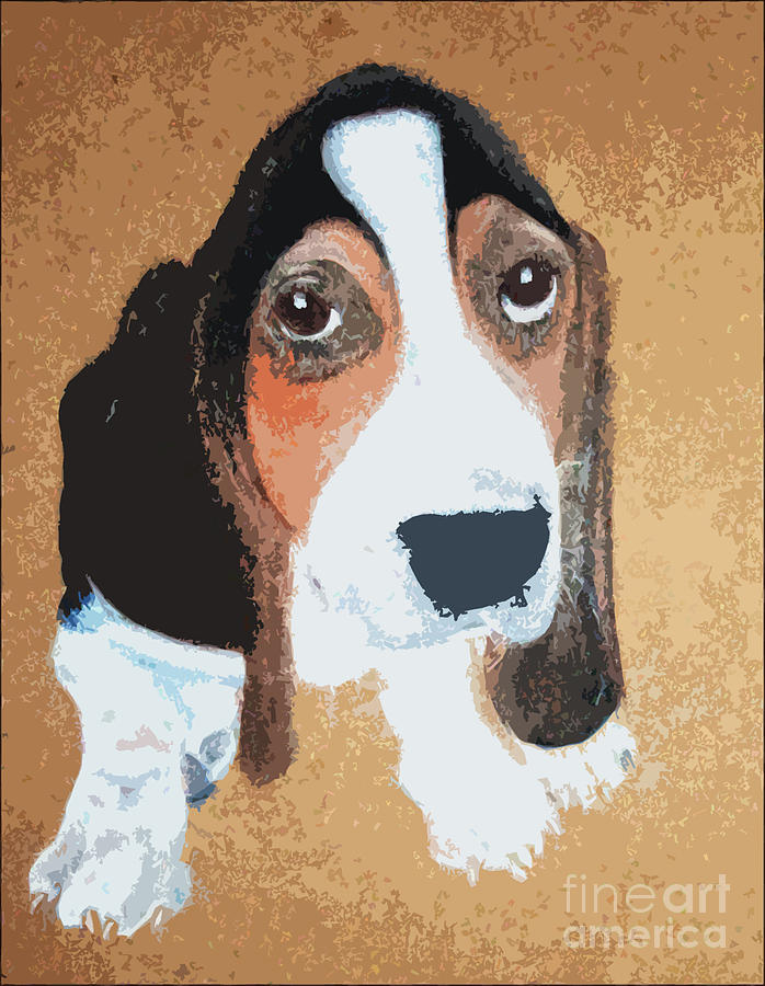 Hound Dog Digital Art  - Hound Dog Fine Art Print