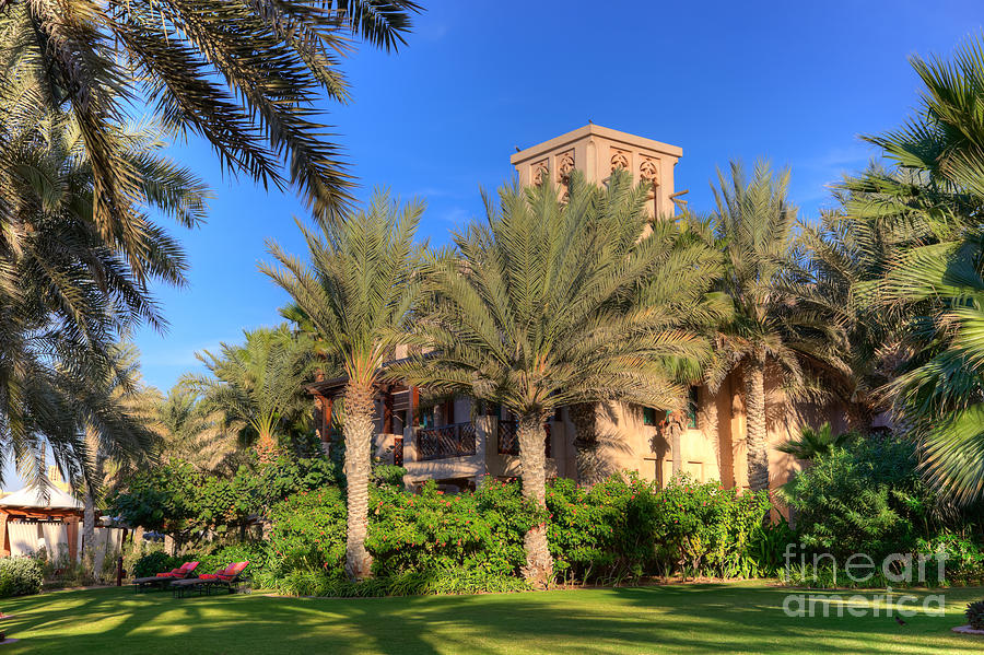 Abu Dhabi Photograph - House At Madinat Jumeira Dubai by Fototrav Print