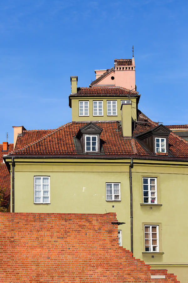 House In The Old Town Of Warsaw Photograph  - House In The Old Town Of Warsaw Fine Art Print