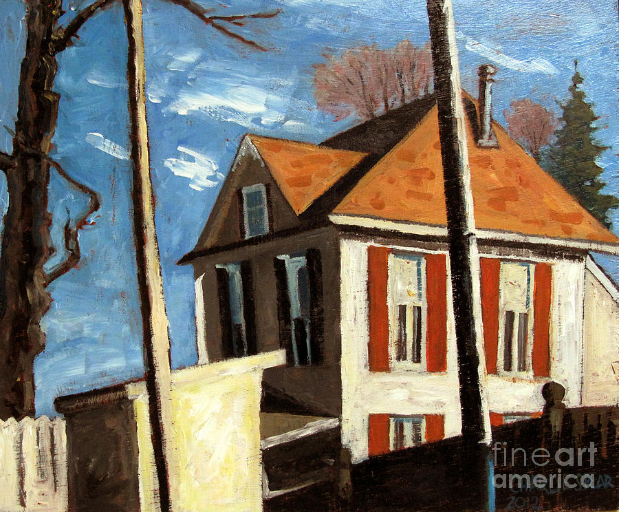 Peru Painting - House On The Hill On Spring Street by Charlie Spear