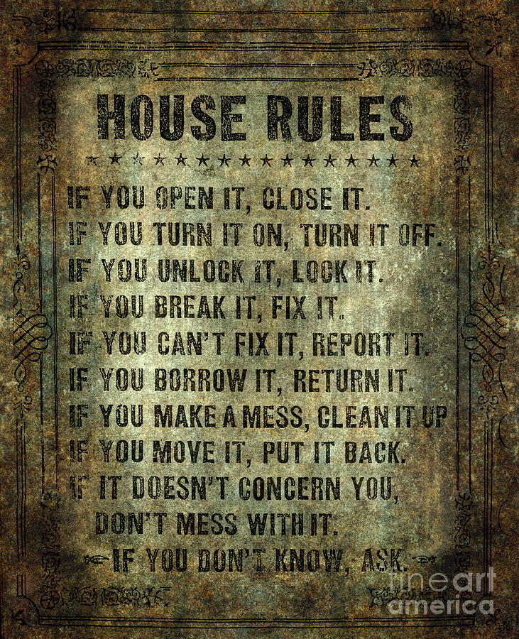 House Rules Digital Art