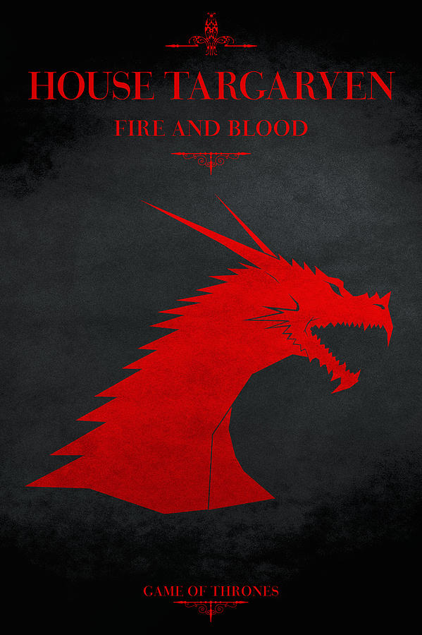 House Targaryen Digital Art  - House Targaryen Fine Art Print