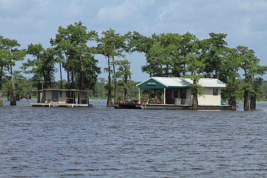 Houseboat - Atchafalaya Basin Photograph by Susie Hoffpauir