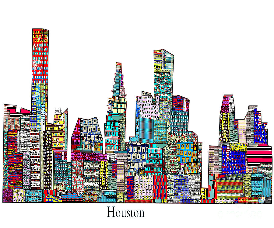 Houston Painting - Houston by Bri B