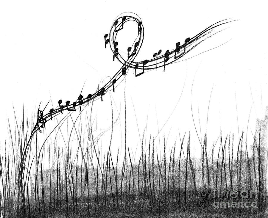 How Sweet The Sound Drawing  - How Sweet The Sound Fine Art Print