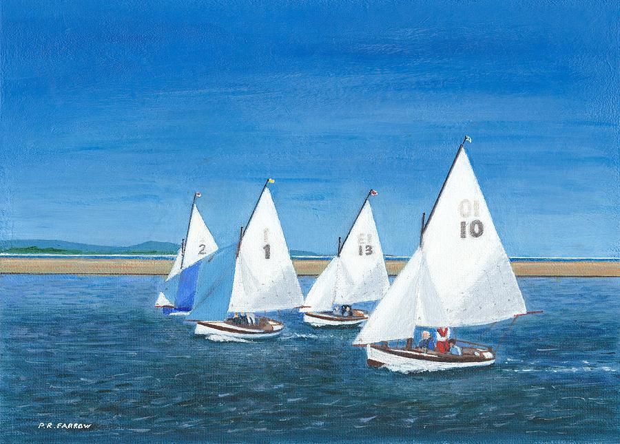 Hoylake operas At West Kirby Marine Lake Painting  - Hoylake operas At West Kirby Marine Lake Fine Art Print