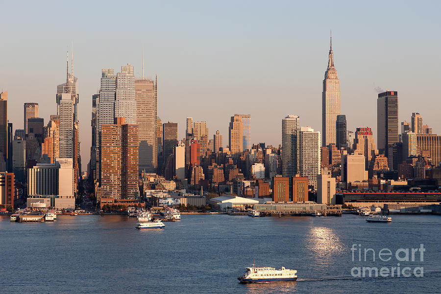 Hudson River And Manhattan Skyline I Photograph