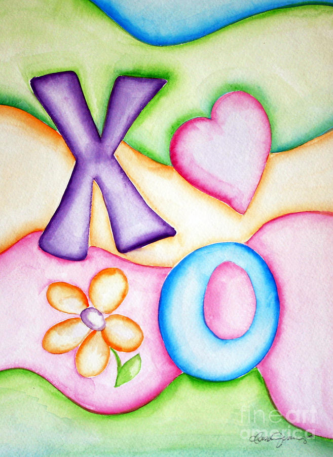 Hugs And Kisses Painting  - Hugs And Kisses Fine Art Print