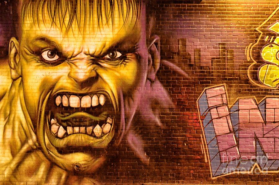 New York City Photograph - Hulk Graffiti In The Bronx New York City by Sabine Jacobs