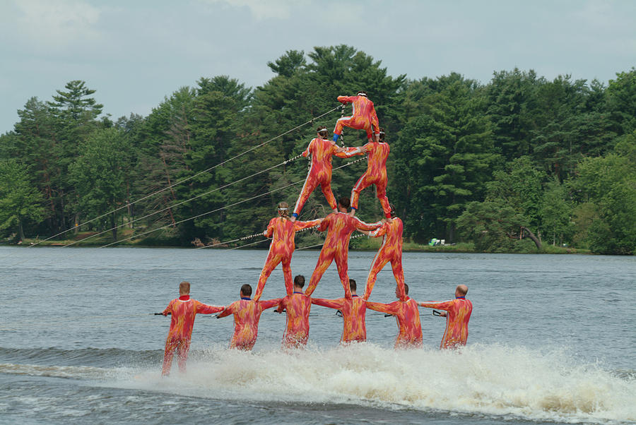 Human pyramid is a photograph by devinder sangha which was uploaded on