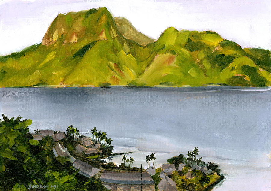 Samoa Painting - Humid Day In Pago Pago by Douglas Simonson