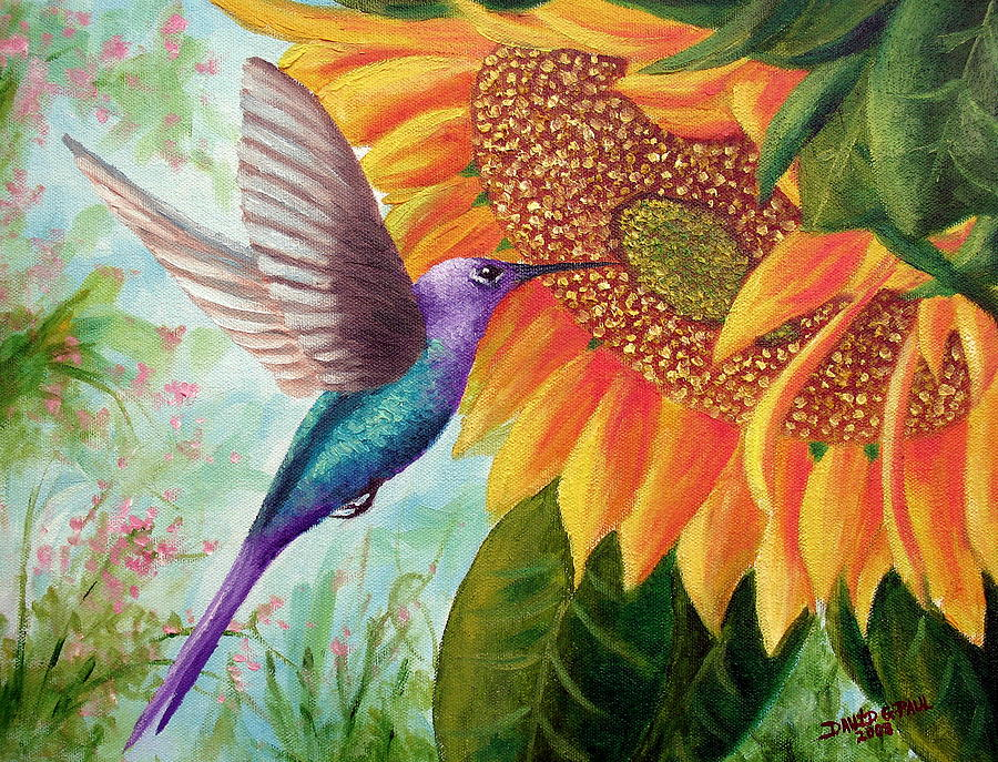 Humming For Nectar Painting