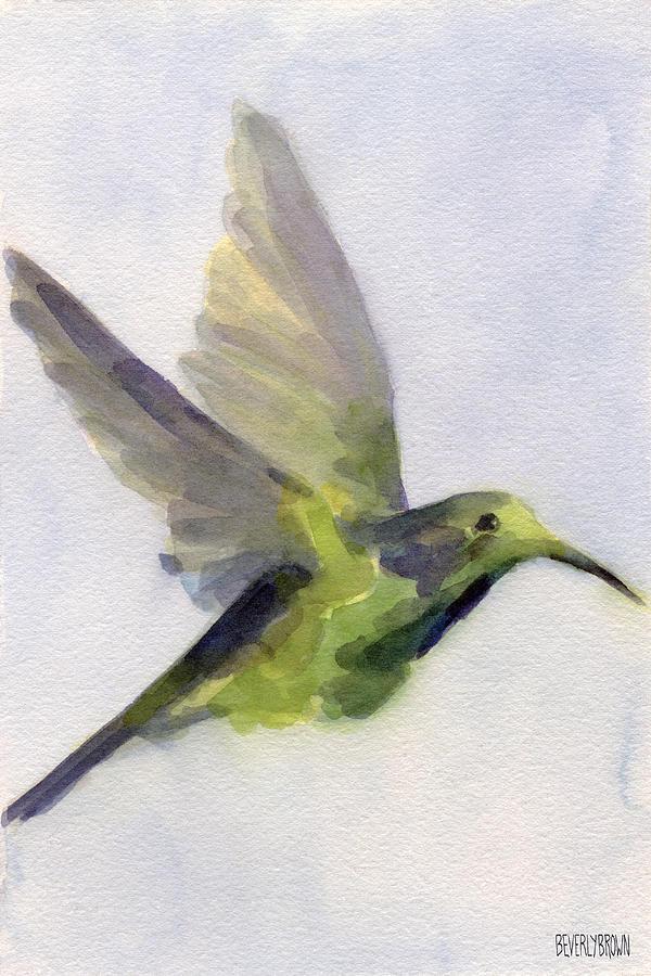 Hummingbird Painting - Hummingbird Watercolor Bird Painting by Beverly Brown Prints