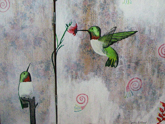 Hummingbirds Painting