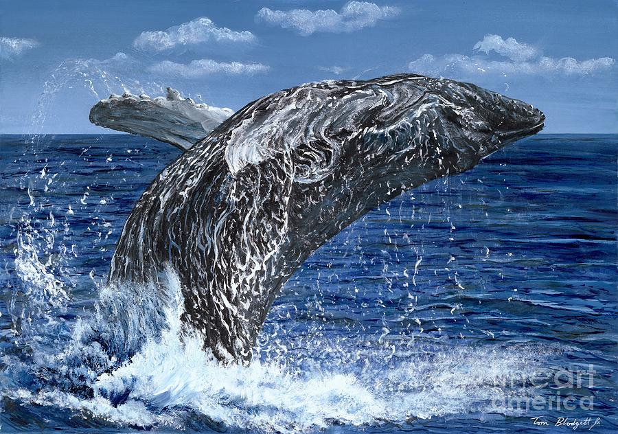 Humpback Whale Painting - Humpback Whale by Tom Blodgett Jr