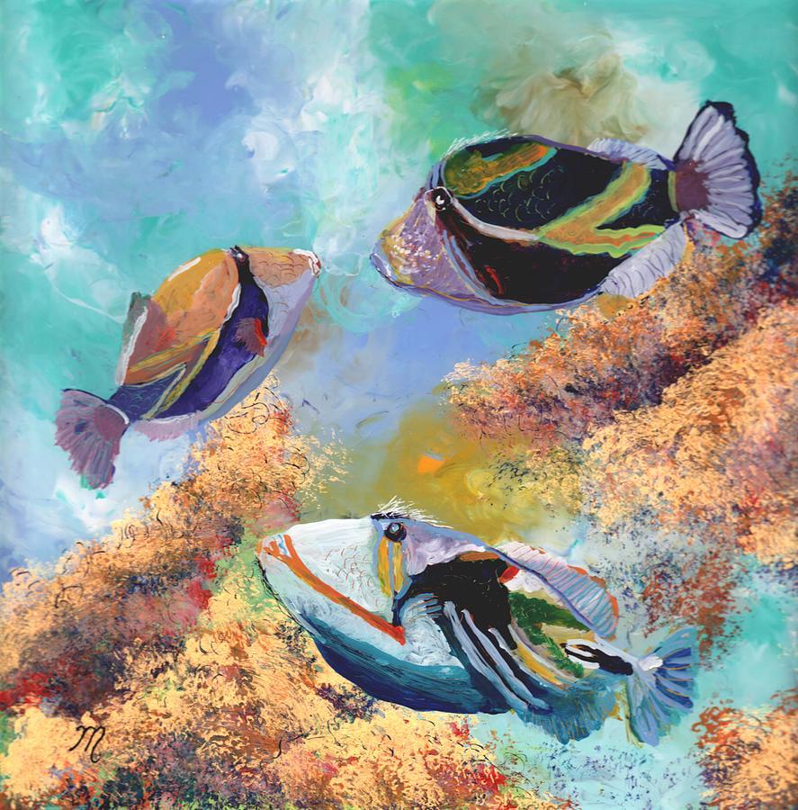 Humuhumu 3 Painting
