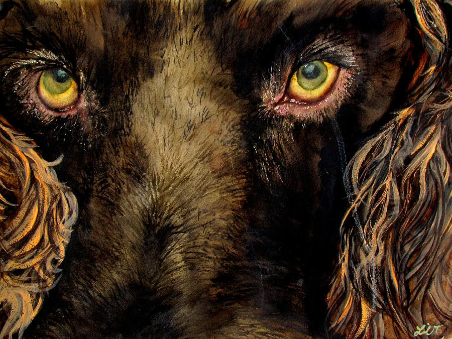 Hunting Dog Stare Painting