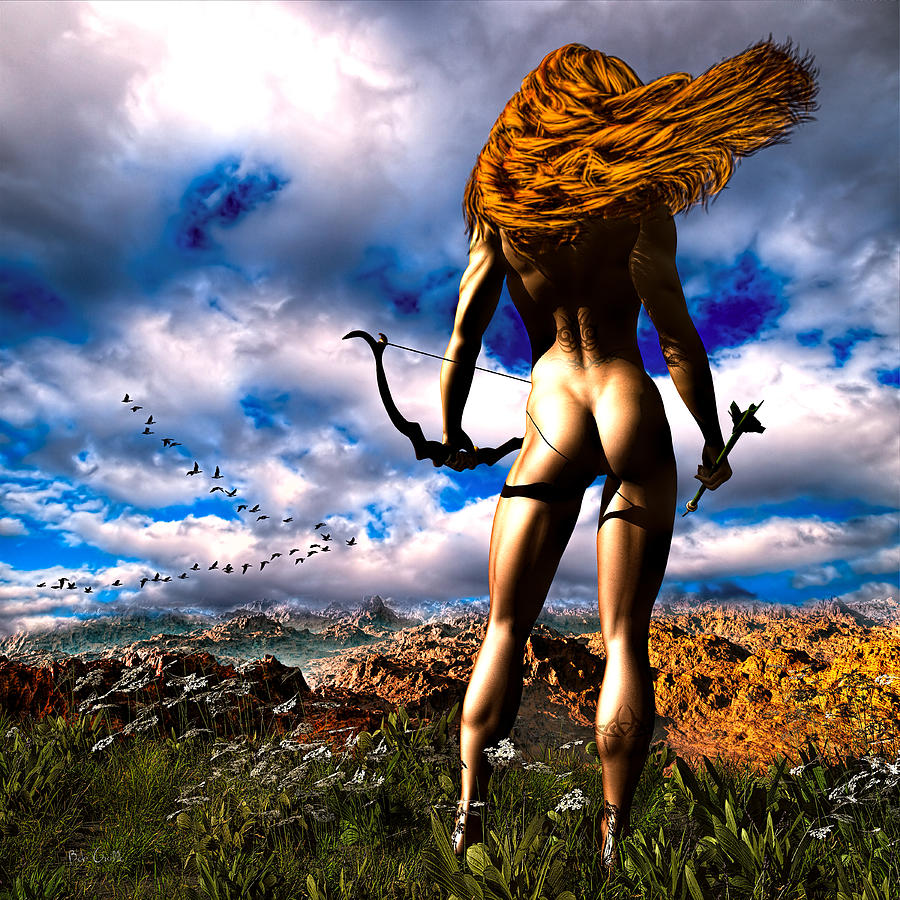 Hunting Edens Edge Digital Art  - Hunting Edens Edge Fine Art Print