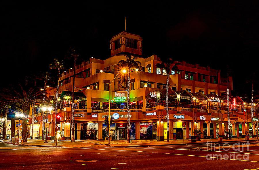 Huntington Beach Downtown Nightside 1 Photograph