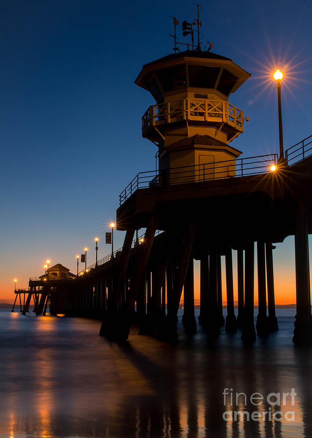 Huntington Beach Pier Ca - Color Photograph  - Huntington Beach Pier Ca - Color Fine Art Print