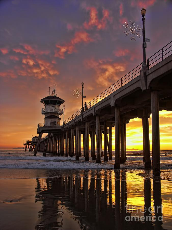 Huntington Beach Pier Photograph  - Huntington Beach Pier Fine Art Print