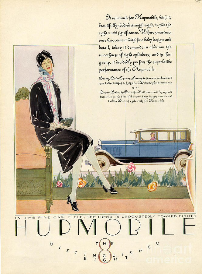1920�s Drawing - Hupmobile 1929 1920s Usa Cc Cars Womens by The Advertising Archives