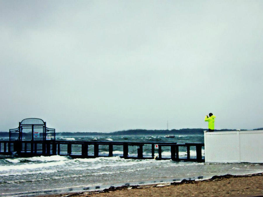 Hurricane Sandy In Hyannis Photograph
