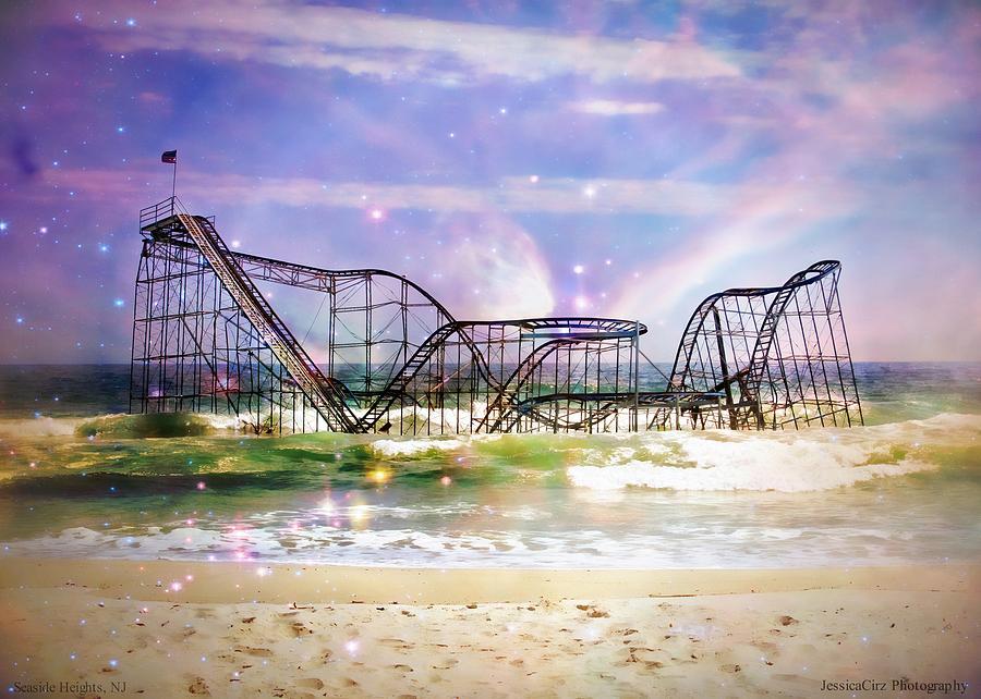 Hurricane Sandy Photograph - Hurricane Sandy Jetstar Roller Coaster Fantasy by Jessica Cirz