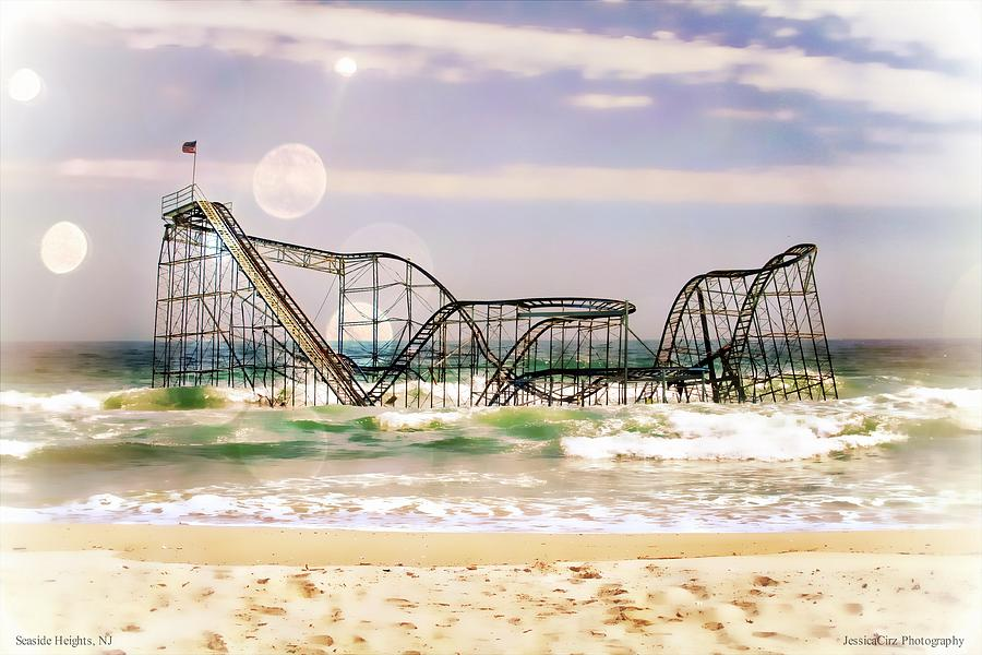 Hurricane Sandy Jetstar Roller Coaster Sun Glare Photograph