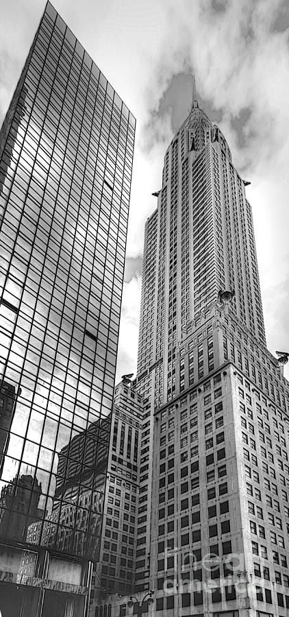 Hyatt And Chrysler Photograph  - Hyatt And Chrysler Fine Art Print