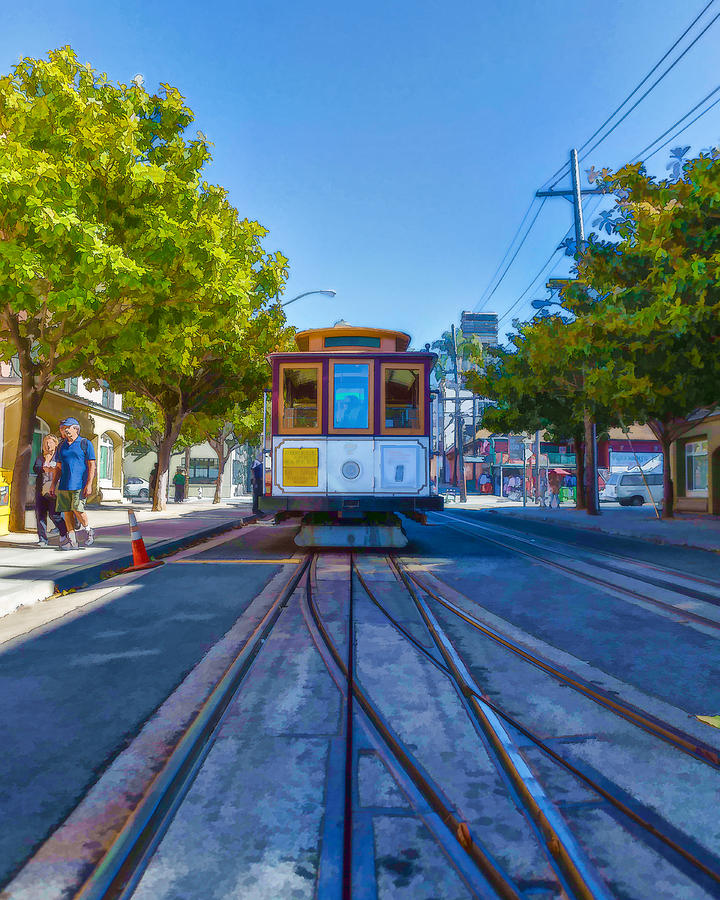 Hyde Street Trolley Photograph  - Hyde Street Trolley Fine Art Print