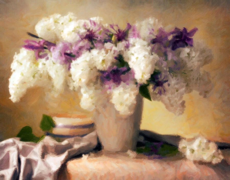 Hydrangea Summer Display Painting  - Hydrangea Summer Display Fine Art Print