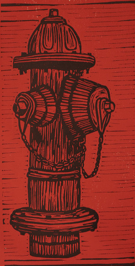 Hydrant Drawing  - Hydrant Fine Art Print