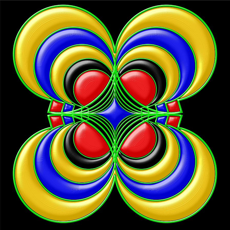 Hypnotic Flower Digital Art