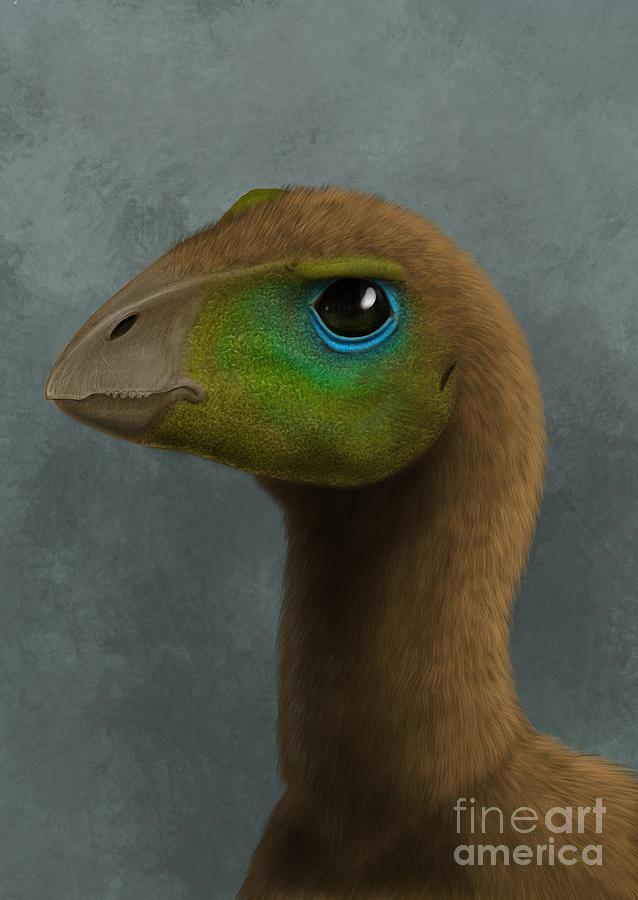 Hypsilophodon Dinosaur Portrait Digital Art