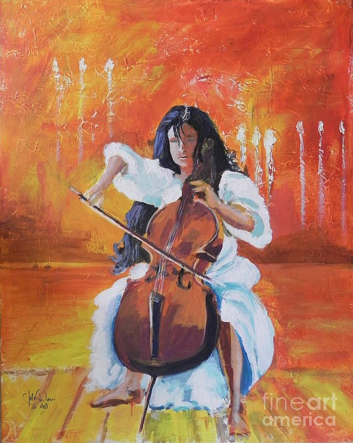 Woman Painting - I Am Dina by Jolanta Shiloni