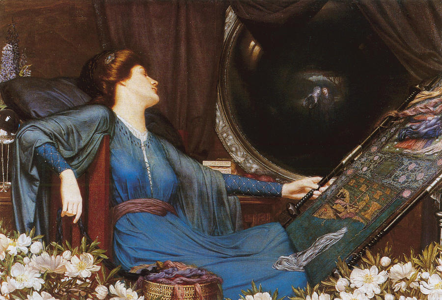 """the use of imagery in the lady of shallot by alfred tennyson Alfred lord tennyson's  collection of """"the devil and the lady"""" tennyson's father's health started  of imagery from romantic poets."""