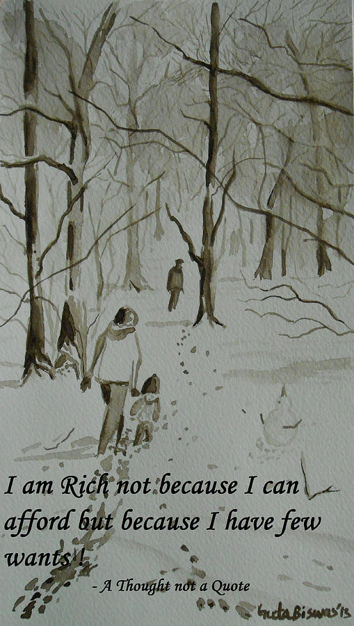 I Am Rich - Monochrome-snow Scene Painting