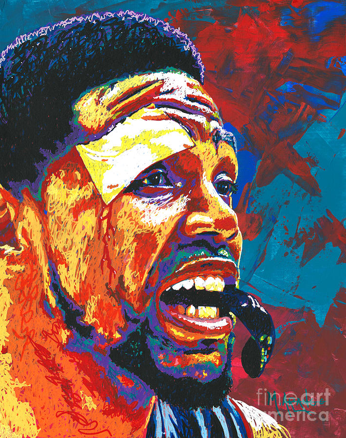 Ud Painting - I Bleed Heat by Maria Arango